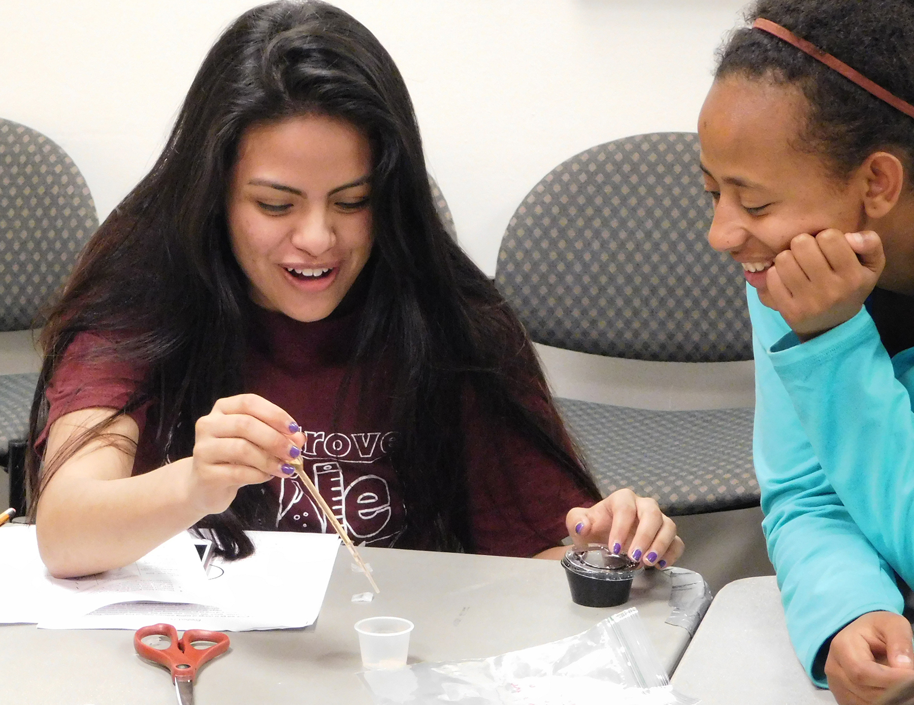 Students at high school challenge testing bioplastic film for starch